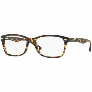 Ray-Ban Rectangular Eyeglasses Brown W/Demo Lens